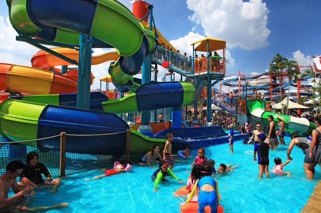 Vui chơi thả ga ở công viên giải trí Siam Park City