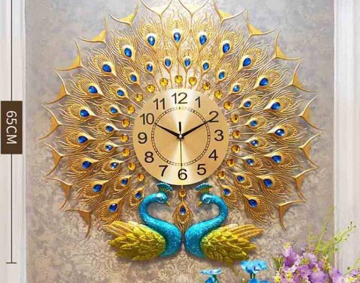 đồng hồ trang trí nghệ thuật phòng khách thiết kế hiện đại đẹp tại hà nội