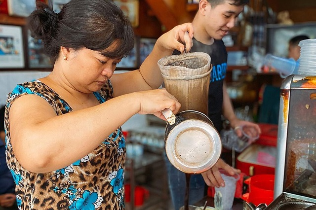 Cà phê vợt có một hương vị truyền thống đặc biệt để thưởng thức